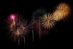 Fireworks Celebration at night on New Year stock photo
