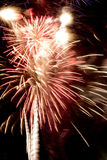 Fireworks Celebration Over Stadium Independence Day July Forth Stock Photography
