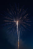 Fireworks celebration. Pyrotechnic fireworks celibration in the night sky Stock Photos