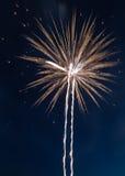 Fireworks celebration. Pyrotechnic fireworks celibration in the night sky Stock Photography