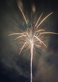 Fireworks celebration. Pyrotechnic fireworks celibration in the night sky Royalty Free Stock Images