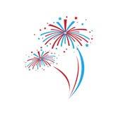 Fireworks. Celebration season design vector Royalty Free Stock Photography