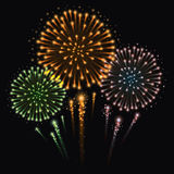 Fireworks Celebration. Vector illustration of fireworks Royalty Free Stock Image