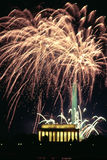 Fireworks Celebration Washington DC Liberty Memorial. A vertical composition of D.C. independance day celebration Royalty Free Stock Photography