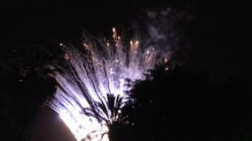 Fireworks celebrations July 4, 2014 in Bergen county, New Jersey, USA stock footage