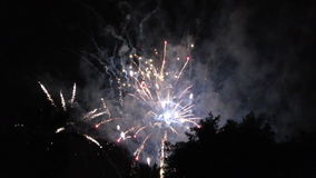 Fireworks celebrations July 4, 2014 in Bergen county, New Jersey, USA stock video footage