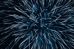 Fireworks Cerulean Royalty Free Stock Photography