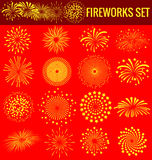 Fireworks for Chinese New Year vector illustration