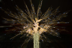 Fireworks from a Christmas Tree. An abstract showing lights from a Christmas tree Stock Images