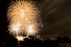 Fireworks in a City Stock Photography