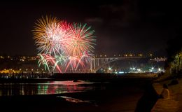 Fireworks at a City Festival royalty free stock images