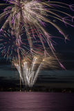 Fireworks in the city. Independence day and New year holidays. Stock Image