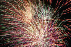 Fireworks in the city. Independence day and New year holidays. Royalty Free Stock Image