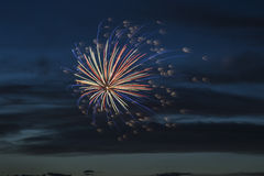 Fireworks in the city. Independence day and New year holidays. Stock Photography