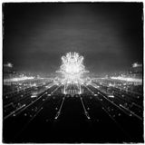 Fireworks in the city, New Years Eve Royalty Free Stock Photos