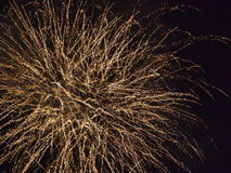 Fireworks(close-up). Fireworks on the black sky background Royalty Free Stock Photos