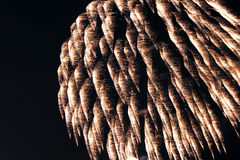 Fireworks close up at night stock photos