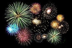 Free Fireworks Cluster Royalty Free Stock Photos - 110725878
