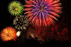 Fireworks cluster Stock Photography