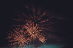 Fireworks cluster Royalty Free Stock Photography