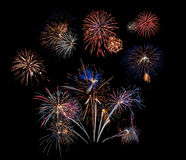 Fireworks Cluster of 10 Royalty Free Stock Images