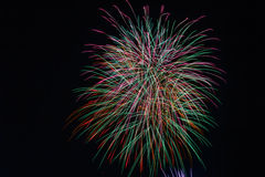 Fireworks cluster Stock Image