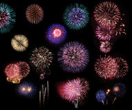 Fireworks collage Royalty Free Stock Photos