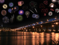 Fireworks collage Stock Image