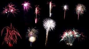 Fireworks collage series Stock Photo