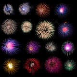 Fireworks collection Stock Image
