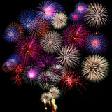 Fireworks collection Royalty Free Stock Photography