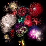 Fireworks collection Royalty Free Stock Image