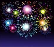 Fireworks collection. Colorful festive firework background. Vector illustration vector illustration