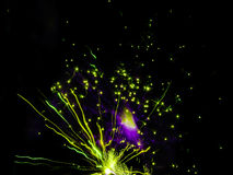 Fireworks color background green fire Stock Image