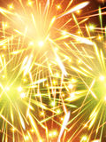 Fireworks color green orange Background vertical. Template Stock Photos