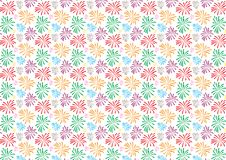 Fireworks colored pattern design on white background. For use as wallpaper royalty free illustration