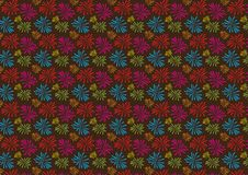 Fireworks colored pattern design on white background. For use as wallpaper vector illustration