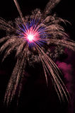 Fireworks. Colored fireworks on a river Royalty Free Stock Photography