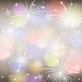 Fireworks colorful background. Royalty Free Stock Images