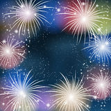 Fireworks colorful background. Royalty Free Stock Photography