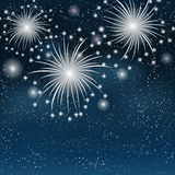 Fireworks colorful background. Vector illustration Stock Photos