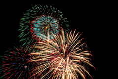 Fireworks. Colorful fireworks in celebration of the big day Royalty Free Stock Images