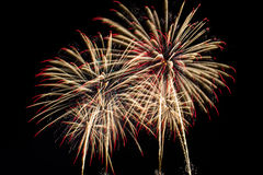 Fireworks. Colorful fireworks in celebration of the big day Stock Photo