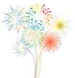 Fireworks vector Stock Photo