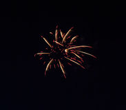 Fireworks. Colorful firework for celebration in the city Stock Photo