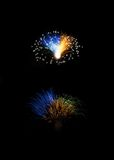 Fireworks,colorful fireworks background,fireworks explosion in dark sky, Malta, fireworks in Malta, Independence day, fireworks fe. Fireworks isolated in dark Stock Photos