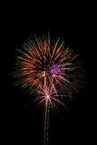 Fireworks. Colorful fireworks isolated against a background of black night sky Stock Photos