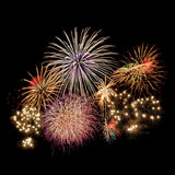 Fireworks. Colorful fireworks isolated on Black Stock Images
