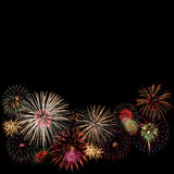 Fireworks. Colorful fireworks isolated on Black Royalty Free Stock Images