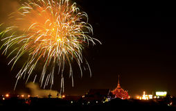 Fireworks. Colorful fireworks in the night Royalty Free Stock Photos
